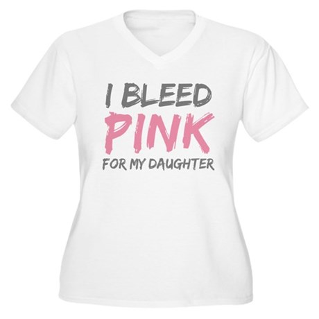 Pink Breast Cancer Daughter Women's Plus Size V-Ne