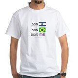 Israel/Brazil Flag Design Shirt