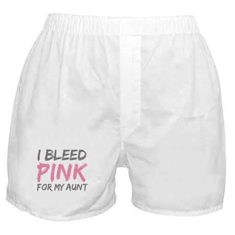 Pink Breast Cancer Aunt Boxer Shorts