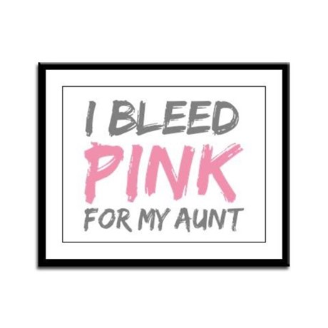 Pink Breast Cancer Aunt Framed Panel Print
