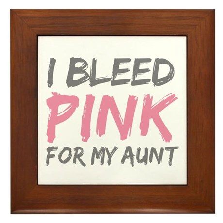 Pink Breast Cancer Aunt Framed Tile