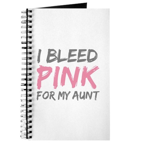 Pink Breast Cancer Aunt Journal