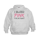 Pink Breast Cancer Aunt Kids Hoodie