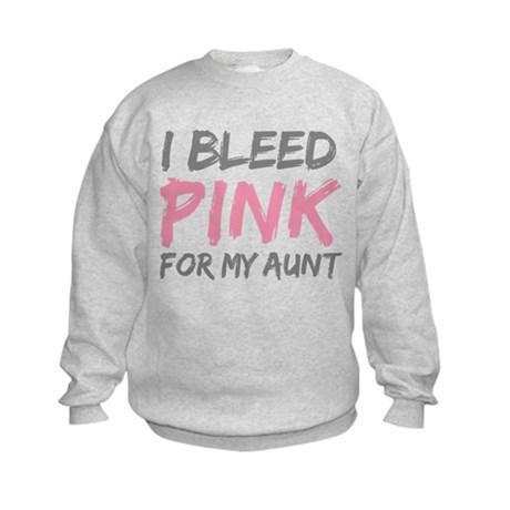 Pink Breast Cancer Aunt Kids Sweatshirt