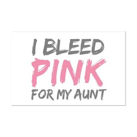Pink Breast Cancer Aunt Mini Poster Print