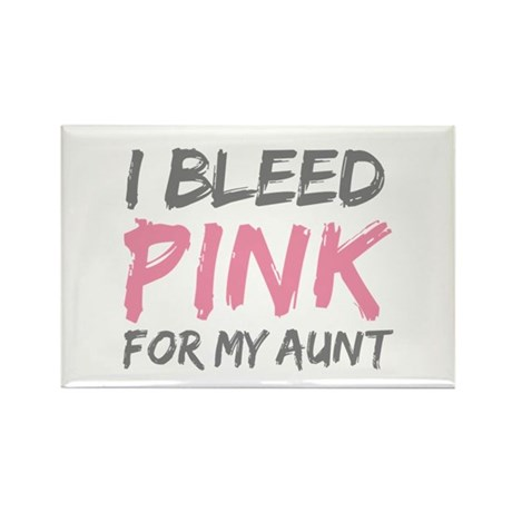 Pink Breast Cancer Aunt Rectangle Magnet