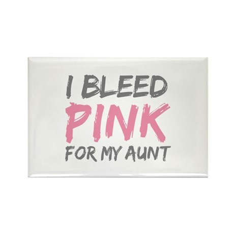 Pink Breast Cancer Aunt Rectangle Magnet (10 pack)