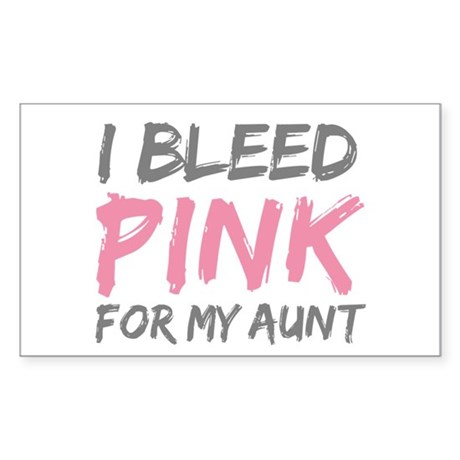 Pink Breast Cancer Aunt Rectangle Sticker