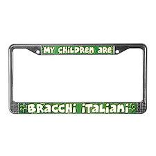My Children Bracco Italiano License Plate Frame