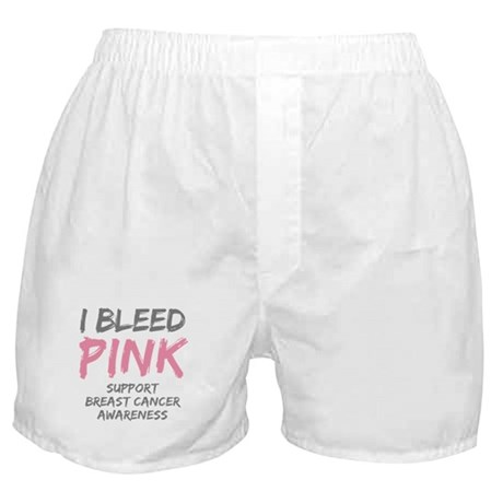 I Bleed Pink Cancer Awareness Boxer Shorts