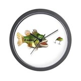 Fish and Lure Wall Clock