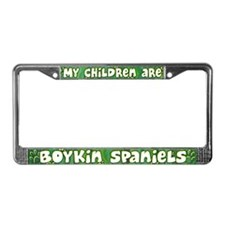 My Children Boykin Spaniel License Plate Frame