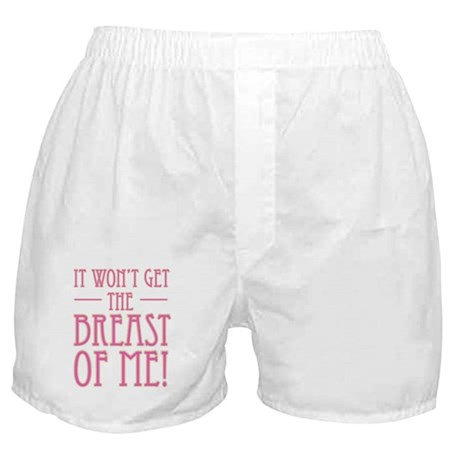 Pink Breast Cancer Supportive Boxer Shorts