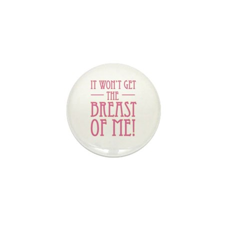 Pink Breast Cancer Supportive Mini Button (10 pack
