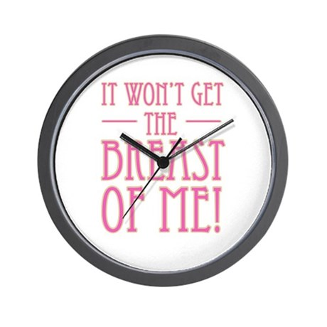 Pink Breast Cancer Supportive Wall Clock