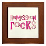 Remission Rocks Breast Cancer Framed Tile