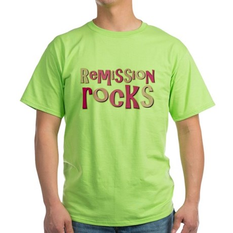Remission Rocks Breast Cancer Green T-Shirt