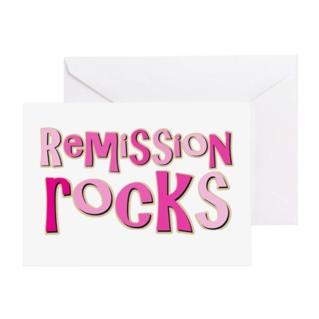 Remission Rocks Breast Cancer Greeting Card