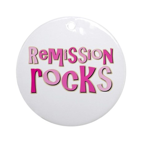Remission Rocks Breast Cancer Ornament (Round)