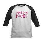 Remission Rocks Breast Cancer Kids Baseball Jersey