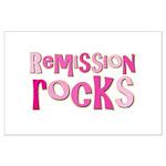 Remission Rocks Breast Cancer Large Poster