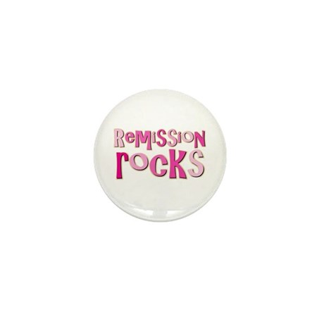 Remission Rocks Breast Cancer Mini Button (100 pac