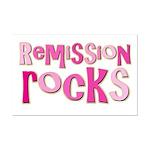 Remission Rocks Breast Cancer Mini Poster Print