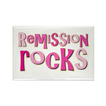 Remission Rocks Breast Cancer Rectangle Magnet