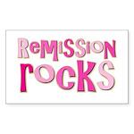 Remission Rocks Breast Cancer Sticker (Rectangular