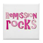 Remission Rocks Breast Cancer Tile Coaster