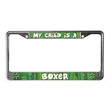 My Kid Boxer License Plate Frame