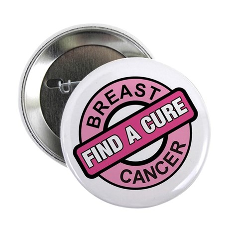 "Pink Breast Cancer Find a Cur 2.25"" Button (10 pac"