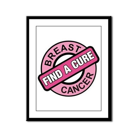 Pink Breast Cancer Find a Cur Framed Panel Print