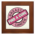 Pink Breast Cancer Find a Cur Framed Tile