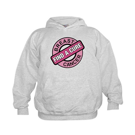 Pink Breast Cancer Find a Cur Kids Hoodie