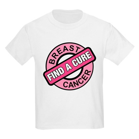 Pink Breast Cancer Find a Cur Kids Light T-Shirt