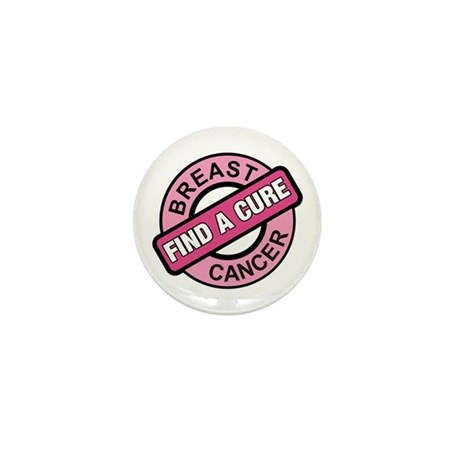 Pink Breast Cancer Find a Cur Mini Button (100 pac
