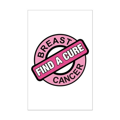Pink Breast Cancer Find a Cur Mini Poster Print