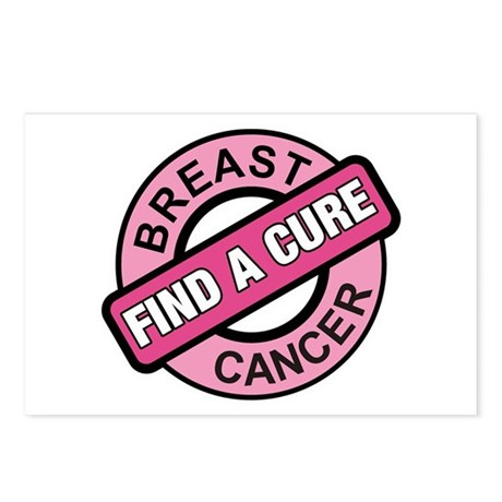 Pink Breast Cancer Find a Cur Postcards (Package o