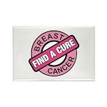 Pink Breast Cancer Find a Cur Rectangle Magnet
