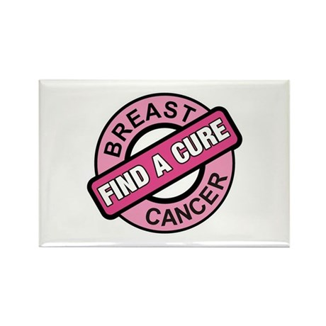Pink Breast Cancer Find a Cur Rectangle Magnet (10