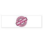 Pink Breast Cancer Find a Cur Bumper Sticker