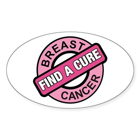 Pink Breast Cancer Find a Cur Oval Sticker