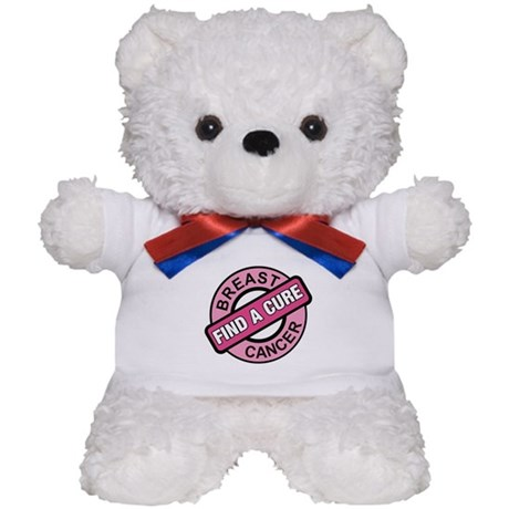 Pink Breast Cancer Find a Cur Teddy Bear