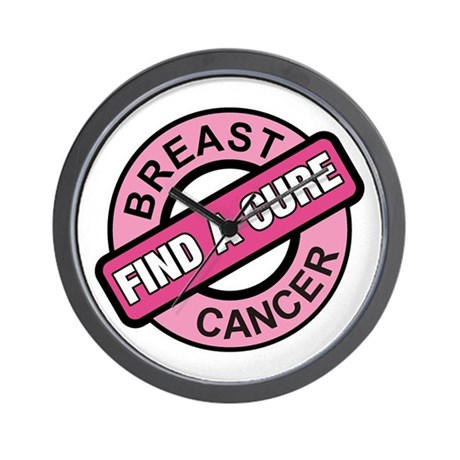 Pink Breast Cancer Find a Cur Wall Clock