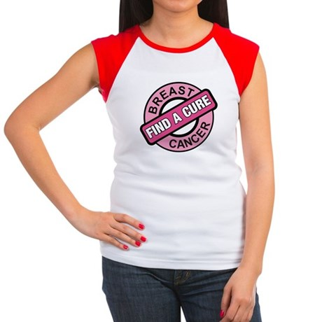 Pink Breast Cancer Find a Cur Women's Cap Sleeve T