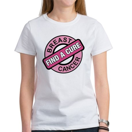 Pink Breast Cancer Find a Cur Women's T-Shirt