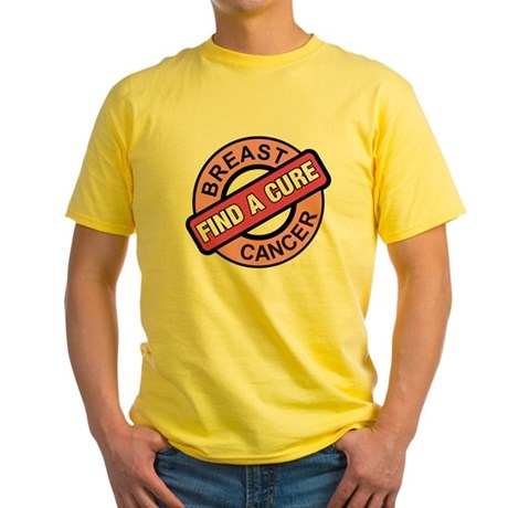 Pink Breast Cancer Find a Cur Yellow T-Shirt