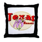 Texas Honey Throw Pillow