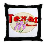 Texas Honey Throw Pillow